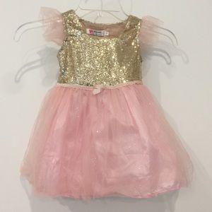 Other - Girl's Pink & Gold Tutu Dress